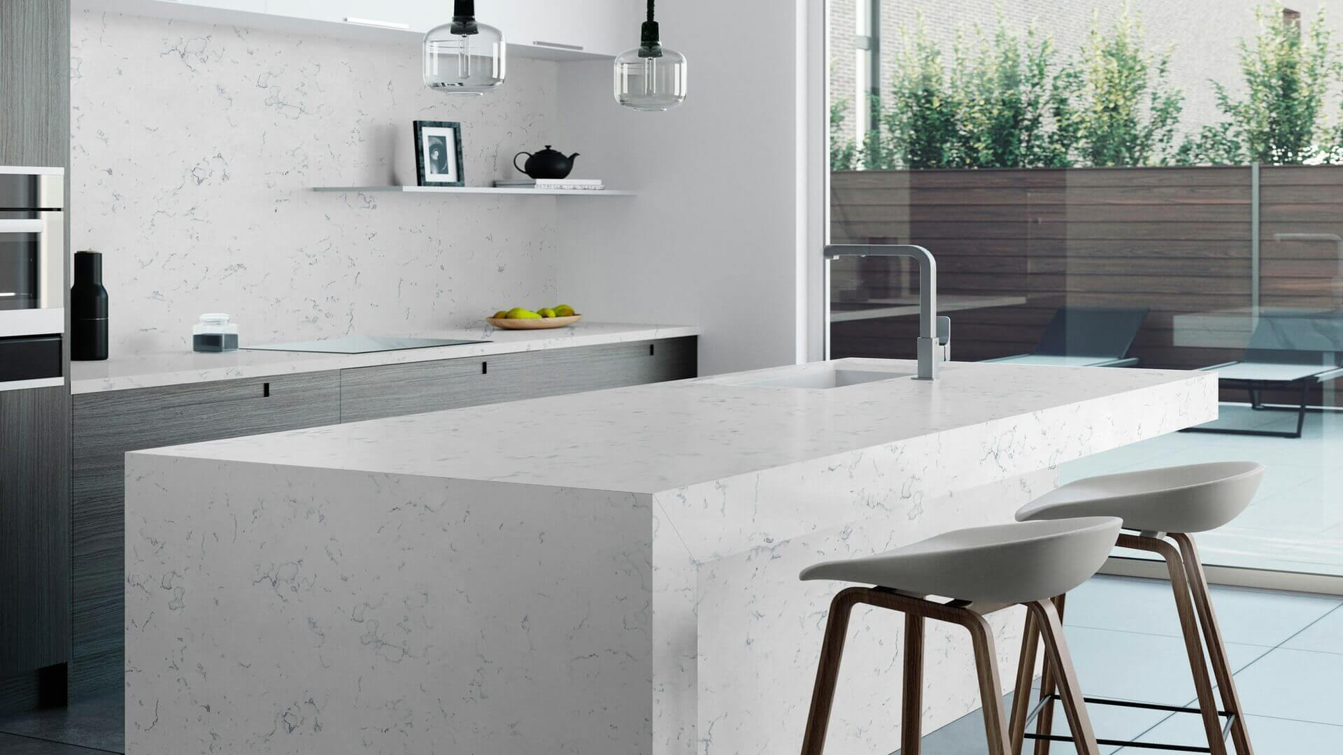 Quartz - Carrara White Spring